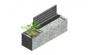 Bench 2+1 Flower Pot_A2a