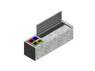 Bench 2+1 Eco_A2b