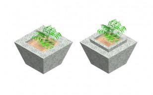 Pyramidal Pot for flowers_C5